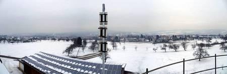 Un ALPHA de GUTERMANN en invierno en el sur de Alemania