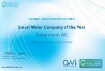 Water Company of the Year - Award certificate